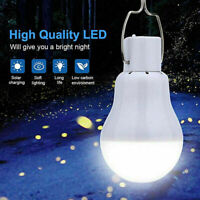 2X Solar Power Rechargeable LED Bulb Camping Tent Light Lantern Lamp Outdoor 15W