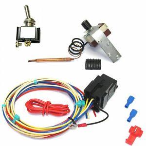Thermostatic Cool Temp Fan Control Adjustable 12v Volt Car Radiator kit Economy