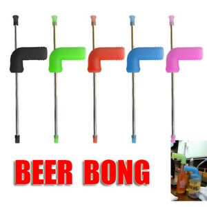26cm Beer Snorkel Straw Bong Funnel Bar Party Drinking Bucks Hens Game Tools  &&