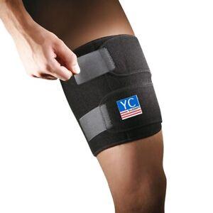 THIGH brace support neoprene patella stabilising belt adjustable strap NHS use