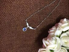 Noble Jewel Natural Moonstone 925 Sterling Silver Clavicle Chain Necklace