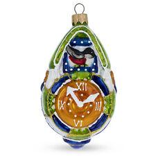Cuckoo Clock Glass Christmas Ornament