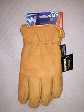 """Adult Size M West Chester """"Warmest"""" Leather Insulated Posi-Therm Work Gloves Tan"""