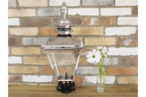 60cm Stainless Vintage Victorian Garden Street Post Lantern Lamp Top Glass Light