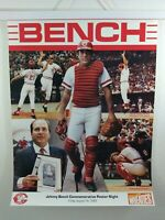 Vintage Johnny Bench Commemorative poster by Wheaties 1989