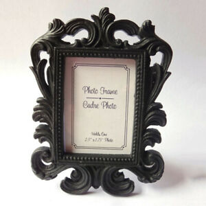 Vintage Small Photo Frame Resin Picture Holder Wedding Home Table Decor Crafts