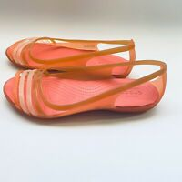 Iconic Crocs Comfort Isabella Womens Strappy Sandals Peach Size 10