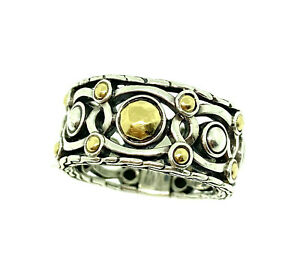 John Hardy Ring Womens Sterling Silver And 18k Gold