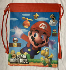 8 Pcs Super Mario Party Bags Non-Woven Drawstring Goodie Bags
