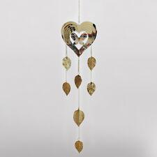 GRANDE Cuore Farfalla Argento in Metallo Decorazione da appendere casa giardino SUN Catcher 24460