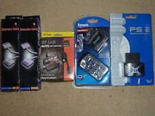 SONY PLAYSTATION PS2 Lot Controller Extension DVD Remote Memory RF Câble TV neuf!