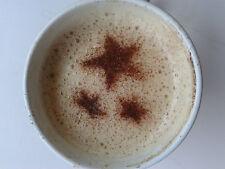 2 x stelle del cielo di caffè / cappuccino stencil riutilizzabile molte volte