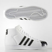 ADIDAS WOMEN'S ORIGINALS PRO MODEL SUPERSTAR METAL TOE WHITE LEATHER TRAINERS