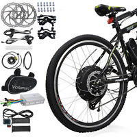 "48V 1000W 26"" Rear Wheel Electric Bicycle Motor Conversion Kit Bike Cycling Hub"