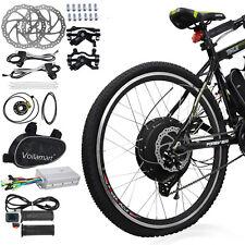 "48V 1000W 26"" Rear Wheel Electric Bicycle Motor Conversion Kit Bike Cycling Hub"
