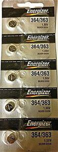 ENERGIZER 364/363 SR621W SR621SW (5 piece) BATTERIES Sealed Authorized Seller