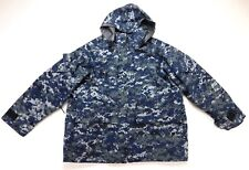 USN US Navy NWU Working Military Uniform Camo Goretex Parka Coat M Medium Long