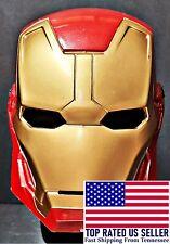 Iron Man Marvel Avengers Face Mask Adjustable Cosplay Hallowen Toy Solid Plastic