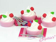 """18"""" Doll Yogurt Cup Toy Set Play Food for 18""""l Doll & Plush Yogurt Cups"""
