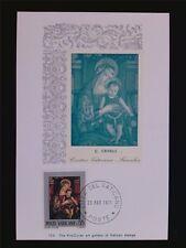 VATICAN MK 1971 MADONNA & CHRISTUS GEMÄLDE MAXIMUMKARTE MAXIMUM CARD MC CM c6267