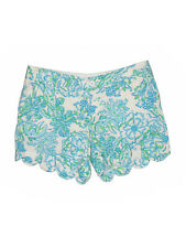 Women Lilly Pulitzer Northeast Hahbah Blue Green Crab Buttercup Shorts Size 6