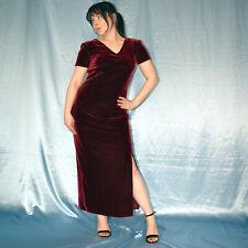 Rouge Bordeaux Velours Robe de Soirée * * M 40 D'Été * Maxi * Cocktail *