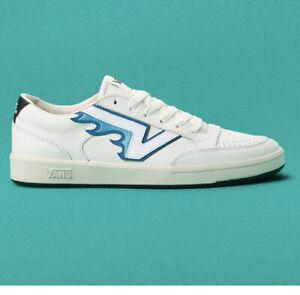 Vans Lowland CC FT Flame Skate Sneakers Marshmallow Turtledove Blue Half Box