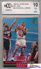 "1993/94 Upper Deck ""Mr. June"" #MJ4 Michael Jordan BECKETT 10 MINT Bulls HOF"