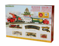 BACHMANN 24027 N Scale Merry Christmas Express STEAM Train Set READY TO RUN **