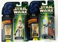 Star wars Kenner POTF Flashback Photo Aunt Beru Luke Skywalker Figures Sealed