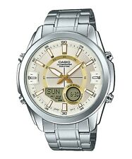 Casio AMW810D-9A Men's Stainless Steel, Analog/Digital, 50M WR Watch, World Time