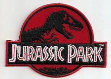 Red Jurassic Park Film Logo - Uniform Patch Kostüm Aufnäher - neu