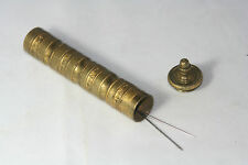 Antique HEAVY METAL~~ brass NEEDLE CASE~~c1900's