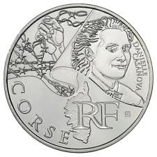 10 euros des régions personnages en argent Corse  2012
