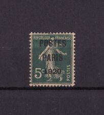 timbre France préoblitéré  semeuse 5c vert poste Paris 1920  n° 24 **  signé