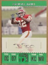 DWAYNE BOWE 2007 TOPPS TX EXCLUSIVE AUTOGRAPH ROOKIE CARD