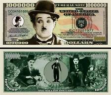 CHARLIE CHAPLIN CHARLOT - BILLET DE COLLECTION 1 MILLION DOLLAR US ! cinéma Muet