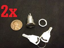 2x 2pcs ALL METAL Key Switch OFF ON Lock toggle lock security electronic b10