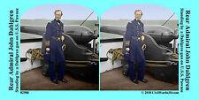 John Dahlgren Dahlgren Gun Navy Civil War SV Stereoview Stereocard 3D 02988