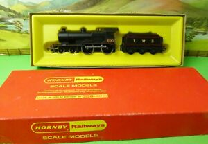 Hornby R450 LMS 4-4-0 Class 2P Fowler Locomotive 690 Black Lined boxed OO (j)