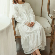 Vintage Palace Sweet Lolita Loose Long Sleeve Lace Princess Sleepwear Nightdress