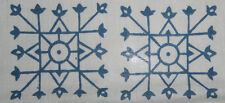 10Yard Hand Printed Cotton Dabu Print  Blue Handmade Print Fabric