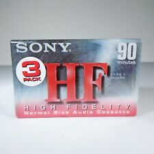 Sony HF High Fidelity 90 Minute Blank Audio Cassette Tapes Normal Bias 3 Pack