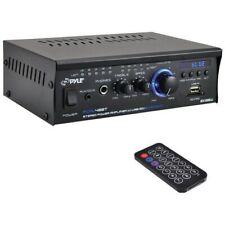 Pyle PCAU48BT Professional Blue Series Mini Stereo Power Amplifier w/Bluetooth