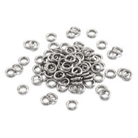 10g 304 Stainless Steel Strong Open Jump Rings Unsoldered Loop Findings 3~8mm OD