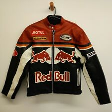 Red Bull Leather Motorcycle Size Medium M Black Jacket alpinestars Michelin
