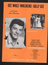 Gee Whizz Whilikens Golly Gee 1960 Frankie Avalon Guns of the Timberland Sheet M