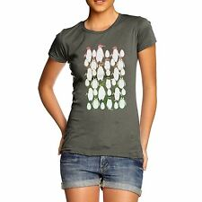 Twisted Envy Women's Penguin Christmas Party Premium Cotton T-Shirt