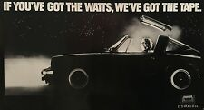"""MAXELL TAPE ORIGINAL VINTAGE 1980'S ADVERTISING POSTER 24"""" X 43 3/4"""" ROLLED MINT"""
