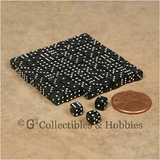 NEW 5mm 100 Black Mini Six Sided Dice Set RPG Game Miniature Tiny 3/16 inch D6